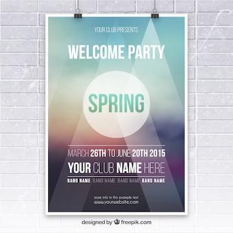 affiche du parti de printemps
