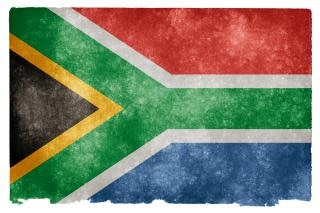 Afrique du sud flag grunge libre