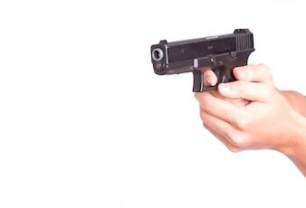 Agent de l'homme de munitions criminelle ballot