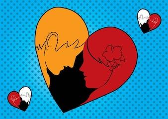 aimante coeur homme femme