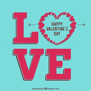 Aimez la carte Saint Valentin