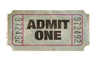 Ancien billet de cinéma
