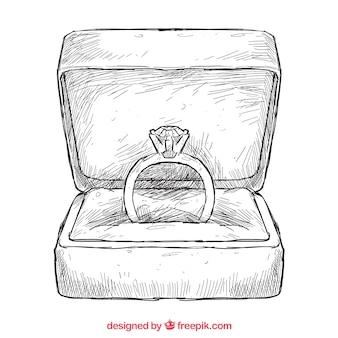 anneau dessiné à la main