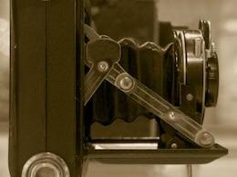 appareil photo vintage avec soufflet