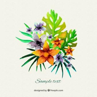 Aquarelle fleurs tropicales for Aquarelle fleurs livraison gratuite