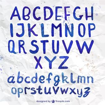 Aquarelle typographie manuscrite