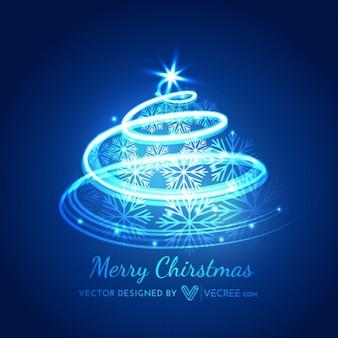 Arbre de Noël avec des flocons lumineux décoration