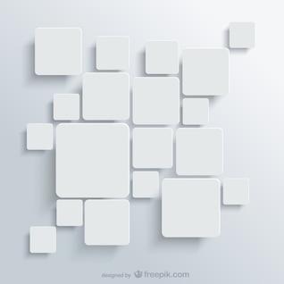 Arrière-plan avec des carrés blancs de vecteur libre