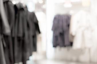 Arrière-plan flou - magasin de vêtements