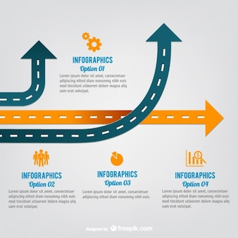 Flèche routes vecteur infographie