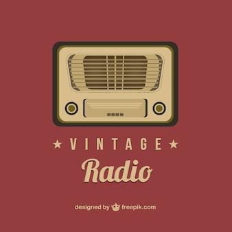 Art de vecteur de radio vintage