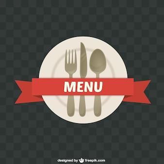 Assiette avec couverts