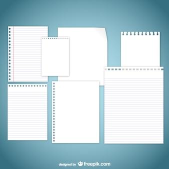 Pages de papier assortis Pack
