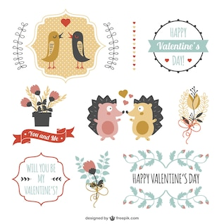 Autocollants Valentine