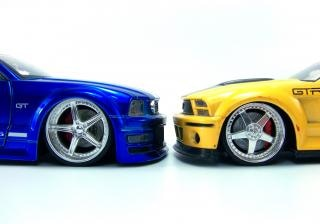 Autos miniatures, bleu