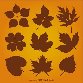 Feuilles d'automne vecteur silhouette