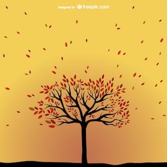 Arbre vecteur d'automne