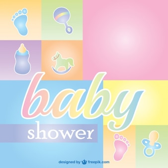 Baby shower carte de voeux