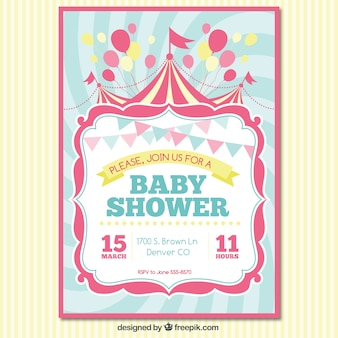 Baby shower carte d'invitation