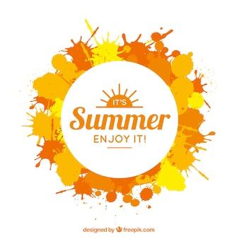 badge Summer avec des touches