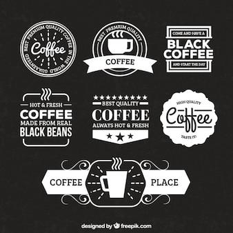 Badges de café rétro