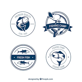 badges de camp de pêche