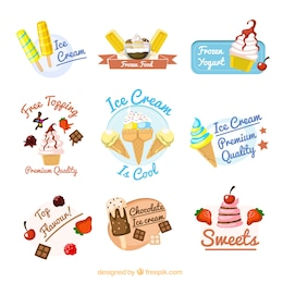 badges de crème glacée