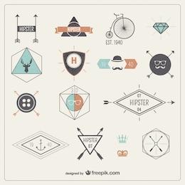 badges de Hipster