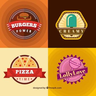 Badges de nourriture délicieuse