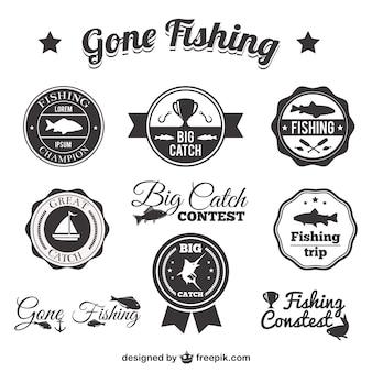 Badges de pêche emballer