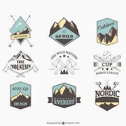Badges de sports de plein air
