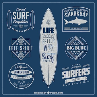 badges de surf