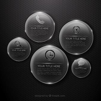 Badges de verre