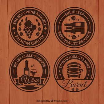 Badges de vin en bois