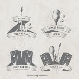 badges du festival de Musique