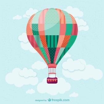 Ballon à air chaud dans le vecteur de ciel