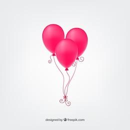 Ballons roses Hot