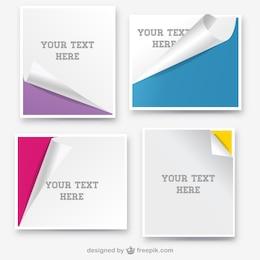 Banderoles en papier enroulées conception de la page