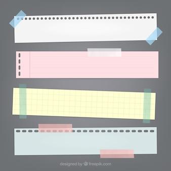 bandes de papier