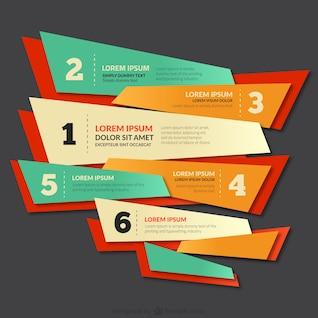 Bannière colorée avec des numéros