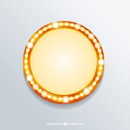 Bannière lumière rétro