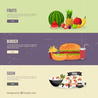 bannières alimentaires
