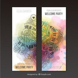 Bannières artistiques pour la fête