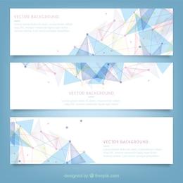 Bannières avec la conception polygonale