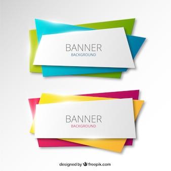Bannières colorées fond