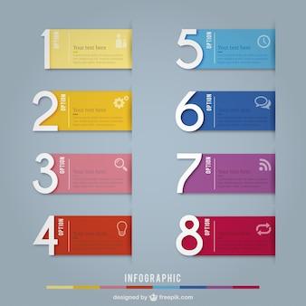 Bannières colorées infographie