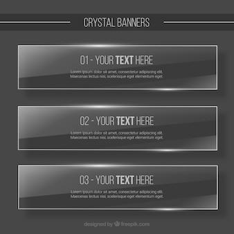 Bannières cristal emballent