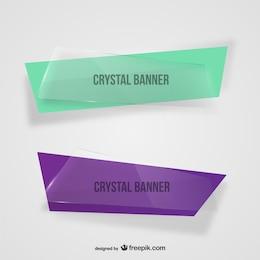 Bannières de cristal asymétriques