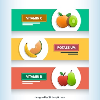 Bannières de fruits