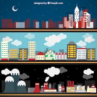 bannières de la ville